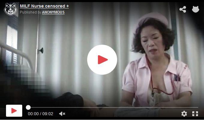 【熟女看護師動画】50代おばさん看護師のフェラで大量射精